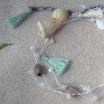 ナッツアクセサリー教室 6月「タッセルとシェルと木の実を繋ぐ初夏のネックレス」