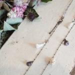 ナッツアクセサリー教室 9月「リボンと木の実とタッセルのネックレス」