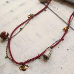 ナッツアクセサリー教室 3月「木の実と花びらパーツのネックレス」
