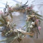 1DAYドライフラワー教室 7月「小麦とスモークツリーの夏リース」